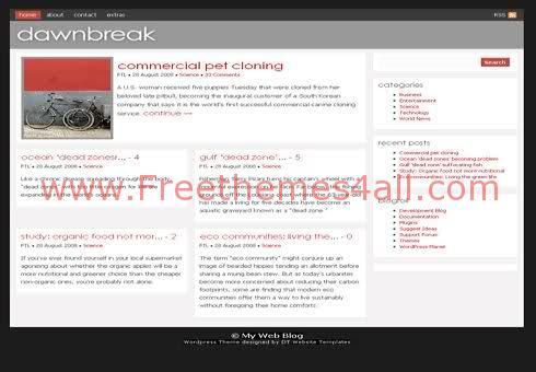 Free WordPress Red White Magazin Web2.0 Theme Template