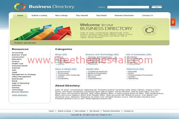Free html business directory website template freethemes4all free html business directory website web20 template cheaphphosting Images
