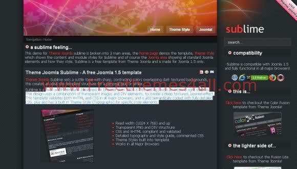 Free Joomla Digital Black Colors Web2.0 Template