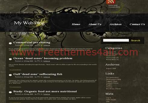 Free WordPress Quality Design Web2.0 Theme Template