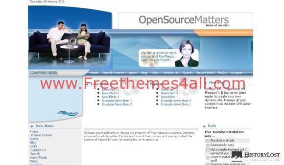 Free Joomla Media Telecom Computers Template