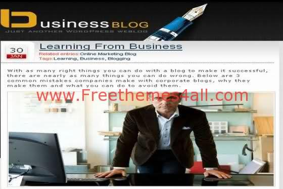 Free WordPress Online Business Web2.0 Theme Template