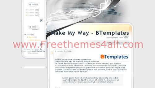 Free Blogger Design Work Fantasy Web2.0 Template