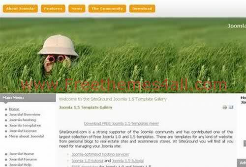 Free Joomla Green Peace Grass Web2.0 Theme Template