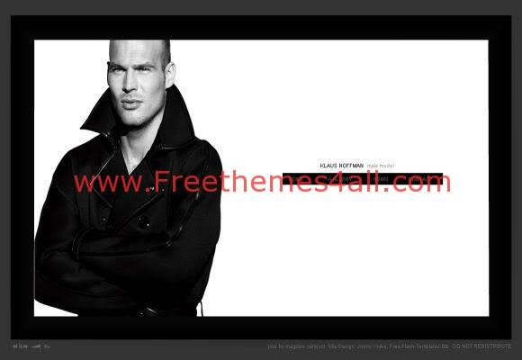 Free Flash Male Models Web2.0 Template