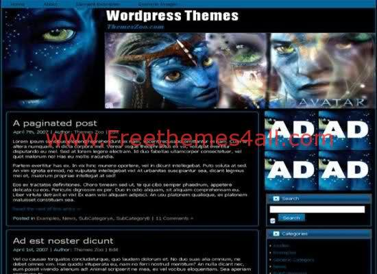 Avatar Movie WordPress Theme