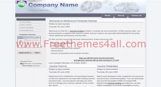 Free Joomla Cars Company Web2.0 Theme Template