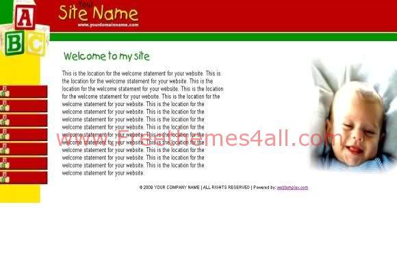 Free Web Template Kids Babies HTML Template