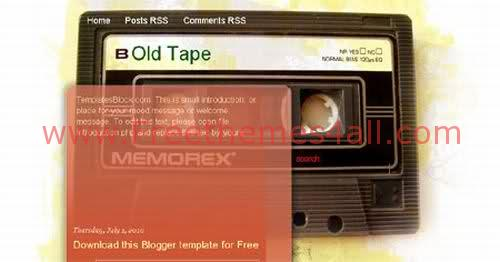 Free Blogger Old Tape Music Web2.0 Template