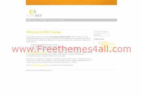 Free Joomla White Orange Simple Web2.0 Theme Template