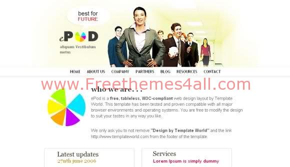 Free CSS Service Business Web2.0 Template