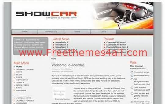 Free Joomla Cars Show Gray Web2.0 Theme Template