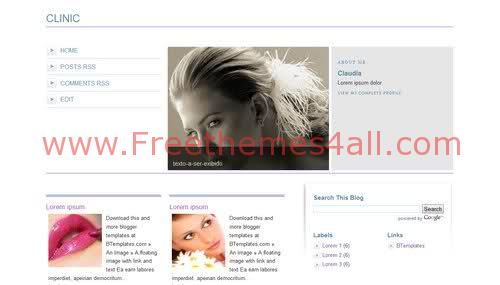 Free Blogger Sexy Health care Web2.0 Template