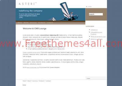 Free Joomla White Bleu Fly Web2.0 Theme Template