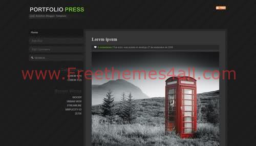 Free Blogger Black Press News Web2.0 Template