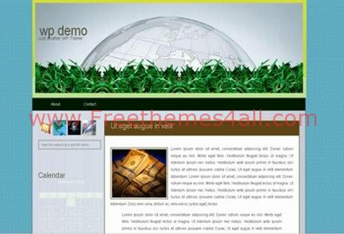Free WordPress Globe Business Theme Template