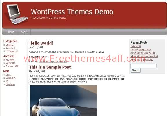 Free WordPress Computers Brown Web2.0 Theme