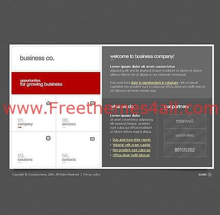 Free Flash Dark Gray Business Company Template