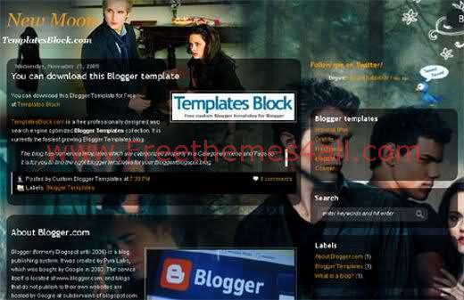 New Moon - Free Blogger Template