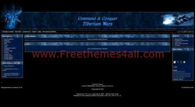 Free php-fusion Bleu Black Games Web2.0 Theme Template
