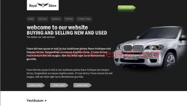 Free CSS BMW Cars Store Shop Web2.0 Template