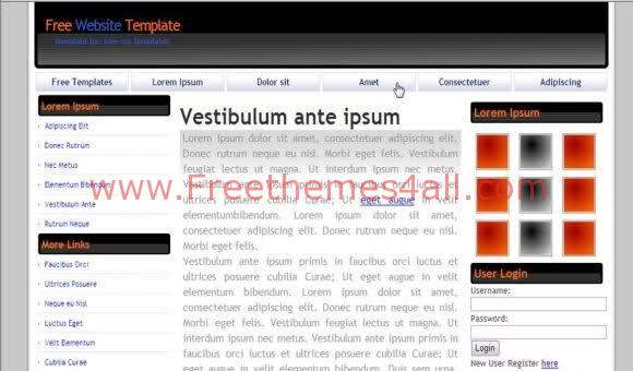Free CSS Business Grey Design Web2.0 Template