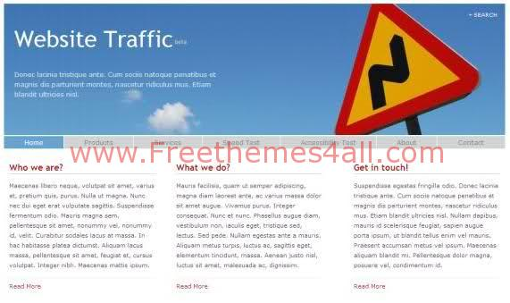 Free CSS Template Website Traffic Template