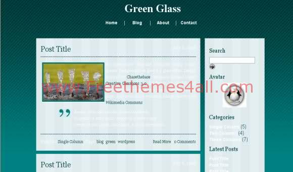 Free CSS Green Glass Web2.0 Template