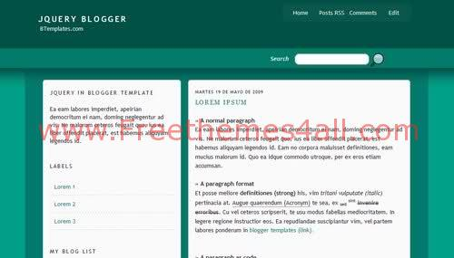 Free Blogger Green White Columns Web2.0 Template