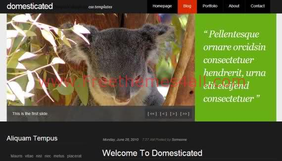 Free CSS Pets Animals Black JQuery Template