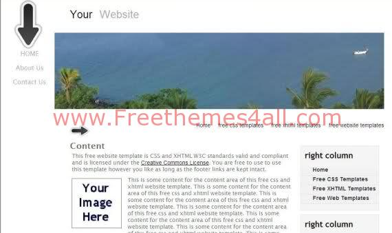 Free CSS Travel Sea Beach Web2.0 Template