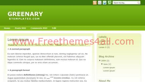 Free Blogger Neutral Green Army Web2.0 Template