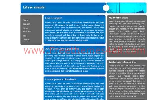 Free CSS Simple Blue Website Template