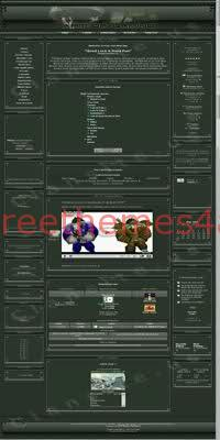 PHPNuke Gamers Website Theme Army Template
