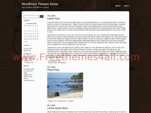 Free WordPress Chocolate White Theme Template