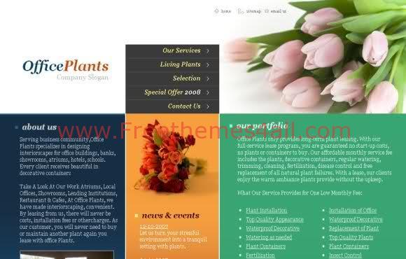 Free CSS Plants Flowers Shop Web2.0 Template