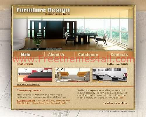 Free Flash Furniture Company Website Template