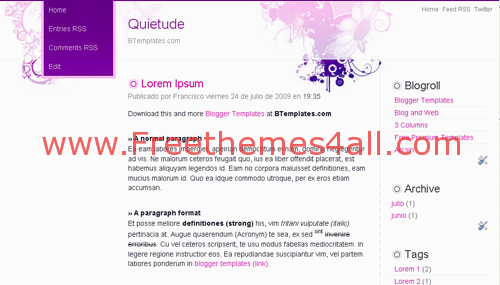 Free Blogger Pink Art Gray Silver Web2.0 Template