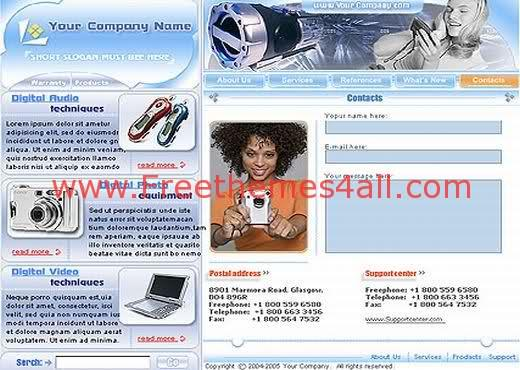 Free Flash Electronic Gadgets Web2.0 Template