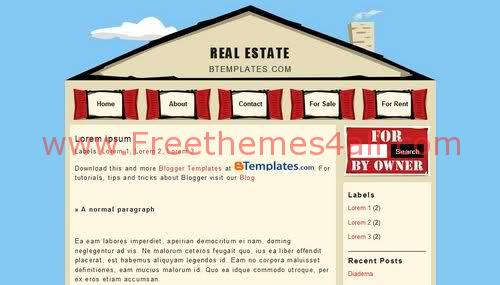 Free Blogger Real Estate Web2.0 Template