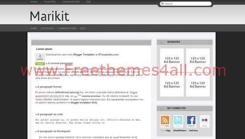 Free Blogger Gray Neutral Web2.0 Template