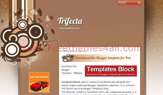 Free Blogger Trifecta Brown Design Template