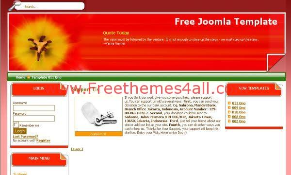 Free Joomla Red Pink Technology Theme Template