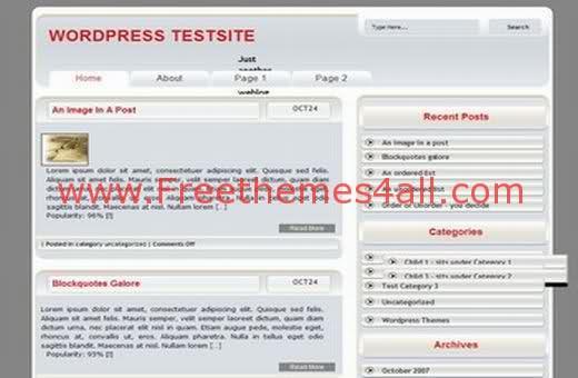 Free WordPress Business Digital Web2.0 Theme Template