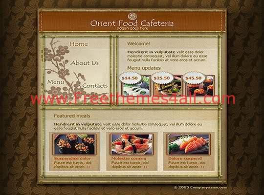 Free Flash Cafeteria Restaurant Web Template