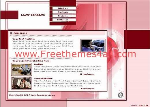 Free Flash Light Red Company Template