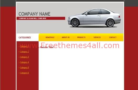 Free CSS Red Rent Cars Web2.0 Website Template