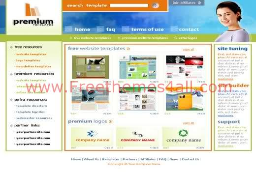 Free HTML Web Solution Company Web2.0 Template