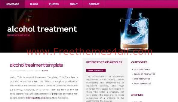 Free CSS Purple Pink Health Web2.0 Template
