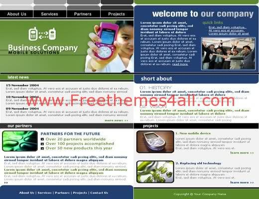 Free HTML Mobiles Solution Company Web Template